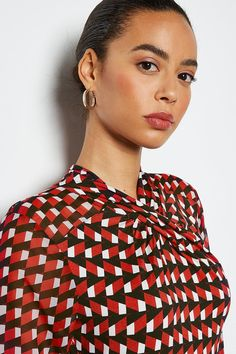 Looking to turn heads? This is the dress for you. Made in figure-flattering jersey with an eye-catching geo print, it's your ultimate talking point. Dress Collection, Fit N Flare Dress, After Dark, Karen Millen, Paisley Print, Dress For You, Skater Dress, Geo