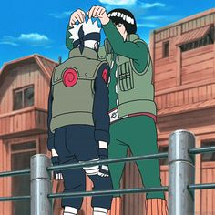 <3 Kakashi & Gai, BFFs 4eva Gai is such a wonderful friend I wish I had one like him