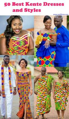 Ghanaian Kente cloth is known across the world for its lively colors and quality. Kente cloth comes in various colors, sizes, and designs and is worn during very important events. The cut of the Kente styles gives women the most feminine of curves, bringing out the true beauty and sensuality of each woman, as she fulfills her title as an African Queen.