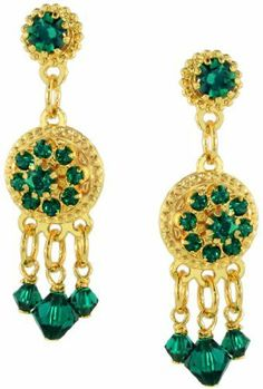 Lunch at The Ritz Zander Elliott Emerald Earring 21 Clips Lunch at The Ritz. $35.00