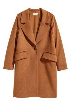 Wundervoll Mantel Aus Wollmix | Dunkles Camel | Damen | Hu0026M AT