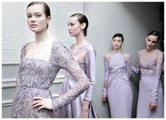 Enchant as an ethereal bride possessing an air of allure and mystery in a lilac haute couture gown. Bridal Dresses, Bridesmaid Dresses, Bridesmaids, Haute Couture Gowns, Couture Fashion, Elie Saab Spring, French Fashion, High Fashion, Camila