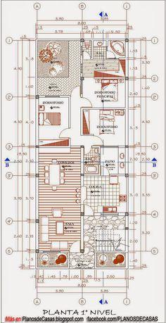 Plano de 120 m2 para casa de 8x15 metros planos de casas for Arquitectura planos de casas gratis