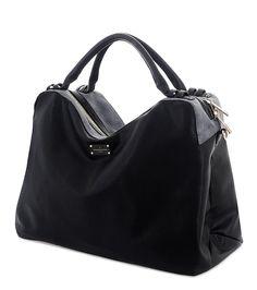 Paul's Boutique Lauren slouchy bag in Black / grey Metallic. Online now || www.paulsboutique... x
