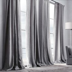 Check out the Belgian Textured Linen Drapery in Curtains & Window Coverings, Fabrics & Linens from Restoration Hardware for Curtains Living Room, Belgian Linen Curtains, Renters Decorating, Curtains, Drapes Curtains, Home, Home Curtains, Curtains With Blinds, Home Decor