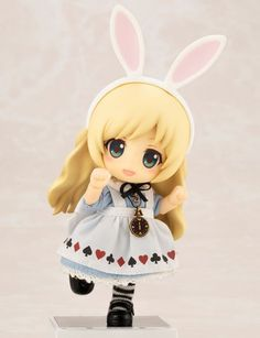 Wish | New Alice in Wonderland Alice Nendoroid Action Figure Real Clothes Ver. Alice Doll PVC Figure Toy Brinquedos Anime 10CM (Size: 1, Color: White)