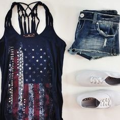July 4th outfit #patriotic #memorial day #American