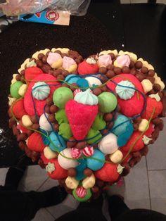 Gâteau bonbons pièce montée coeur