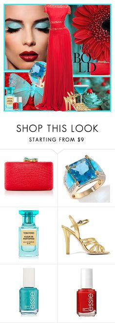 """red & turquoise"" by manicurelover ❤ liked on Polyvore featuring Kayu, Elie Saab, Tom Ford, Miu Miu and Essie"