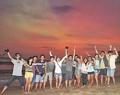 Aurora Sky,Sawarna beach - Indonesia 2013