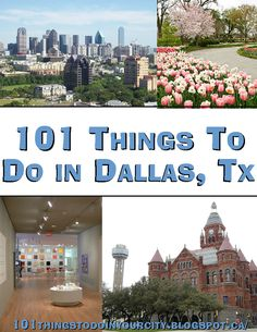 101 Things to Do...: 101 Things to do in Dallas, Tx http://www.LystHouse.com