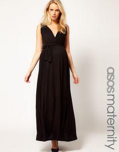 ASOS Maternity Grecian Drape Maxi Dress