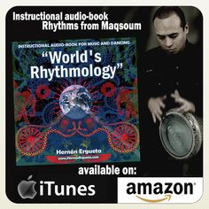 "2011: Banner del audiobook ""World Rhythmology"" de Hernan Ergueta #hernanergueta #worldmusic #ritmologiaarabe"