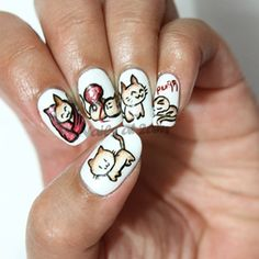 The Big Bang Theory Soft Kitty Nail Art