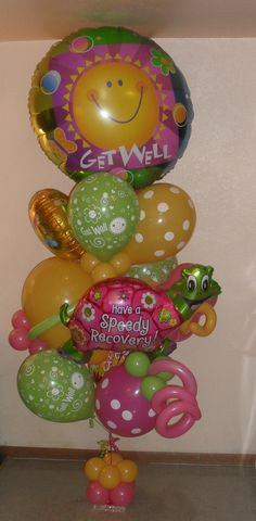 Get well soon large balloon bouquet $122.