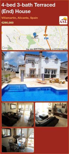 4-bed 3-bath Terraced (End) House in Villamartin, Alicante, Spain ►€290,000 #PropertyForSaleInSpain