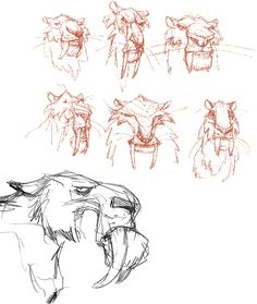 Peter de Sève Find more at https://www.facebook.com/CharacterDesignReferences if you ar looking for: #art #character #design #model #sheet #illustration #best #concept #animation #drawing #archive #library #reference #anatomy #traditional #draw #development #artist #animal #animals #felines #cats #cat