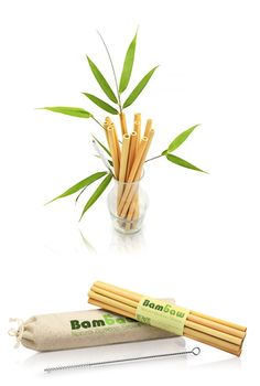 These are reusable, biodegradable drinking straws, handmade in Bali from whole bamboo, which is an easy to grow, sustainable crop.   These eco-friendly straws can be used in hot and cold drinks and they don't taste of anything. A cleaning brush comes with every set of 12.  #bamboostraws #ecofriendly #ecohomeware #sustainable #zerowaste