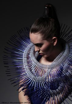 RE PINNED - Emily Wainwright using Cable Ties to construct exquisite neck pieces and sculptural form.