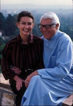 Cary Grant & his fifth wife, Barbara. They were married from 1981 until his death in 1986.