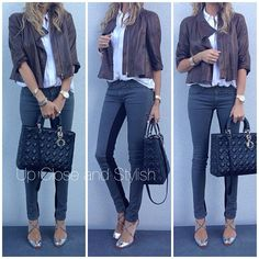 77d68c5d439 upcloseandstylish Marni leather jacket, Equipment top, Superfine jeans,  Louboutin shoes and  Lady Dior  bag