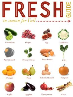what fruit and veg are in season in the Fall / Autumn #plantbased #diet #health