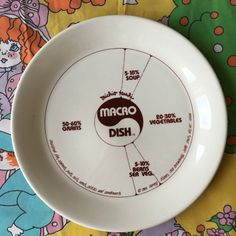 Macro Dish Plate Michio Kushi Harvey Fisher by VintagePussycatShop Nutrition Month, Proper Nutrition, Milk Nutrition, Nutrition Quotes, Nutrition Education, Whole Food Recipes, Vegan Recipes, Macrobiotic Diet, Macros Diet