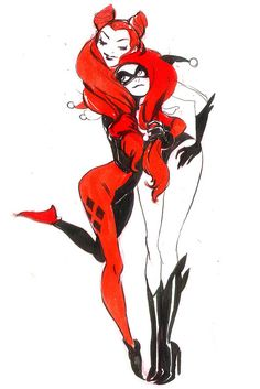 Harley Quinn and Poison Ivy by Mindy Lee - Best Art Ever (This Week): Valentine's Day 2014
