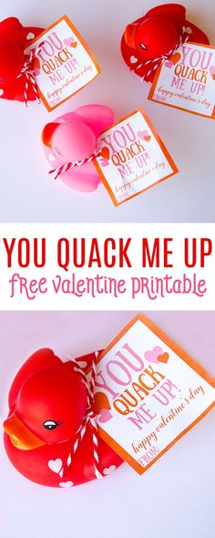 Rubber Duck Valentine Ideas for Preschoolers & FREE PRINTABLE by MichaelsMakers  Lindi Haws of Love The Day