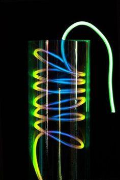 EL Fluorescent Hot-wire Series art lighting from Lightlink Lighting in Oct 2013 Enlightement Magazine. #LightlinkLighting #Houzz #Enlightenmentmag