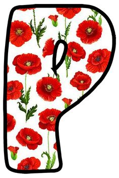 Buchstabe - Letter P Alphabet And Numbers, Letter Templates, Poppies, Stickers, Scripts, Fonts, Alphabet, Valentines Day Weddings, Ornaments
