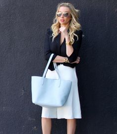 GiGi New York | Style By Stassi Blog | Harbor Blue Teddie Tote