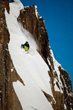 Whew! No room for error - ski on!