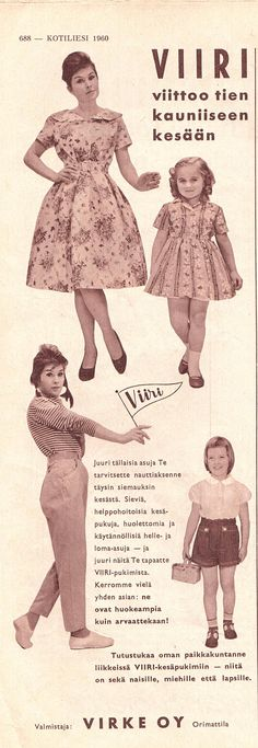VIRKE OY Viiri Kotiliesi 1960