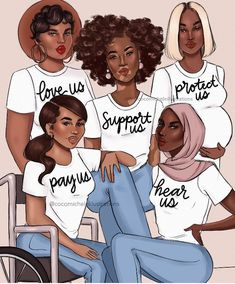Black Girl Art, Black Women Art, Black Girl Magic, Black Art, Black Love Quotes, Fashion Clipart, Protest Art, Black Cartoon, Princess Art