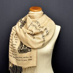 Peter Pan Shawl Scarf Wrap by UniversalZone on Etsy
