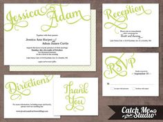 Printable Wedding Invitation DIY Hannah by CatchMeStudio on Etsy, $45.00
