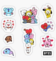 Bts Pegatinas Pegatina Dise o con 10 adhesi Tumbler Stickers, Pop Stickers, Printable Stickers, Wallpaper Iphone Cute, Bts Wallpaper, Cute Wallpapers, Bts Concept Photo, Bts Chibi, Aesthetic Stickers