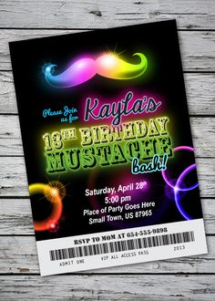 Party: Glow Party Invitations As Your Chosen Exceptional Party Invitation Media 18