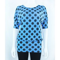 Blue Party Top With Polka Dots http://www.trendzystreet.com/clothing/tops-blouses/blue-polkadotsprint-tzs5893