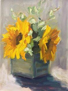 """Sun Flowers"" original fine art by Naomi Bautista"