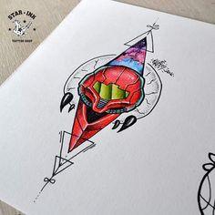 Mais uma ilustração da minha série da Nintendo. .. A personagem do jogo Metroid... Curtiu?  Quer fazer uma tatuagem? Cola aqui no @starinktattooshop Rua Padre Dâmaso n : 325 Osasco / SP #starinktattooshop #tattoo #tattoos #newschool #newschooltattoo #worldofnewschool #newiscool #draw #drawing #desenho #dibujo #desenhotattoo #drawingtattoo #sketch #sketchbook #sketchtattoo #fanart #fanarttattoo #metroid #metroidtattoo #nintendo #nintendotattoo