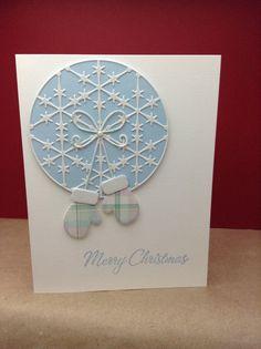 Christmas Mittens. (memory box dies)