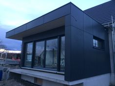 House Cladding, House Siding, Classic House Design, Modern Design, Roof Cap, Black House Exterior, Metal Siding, New Homes, Architecture