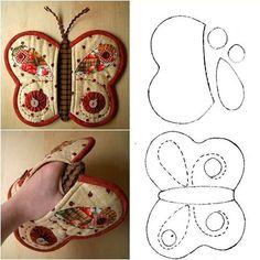 Creative and beautiful butterfly potholder Wonderful DIY Useful Hanging Bedside Organizer