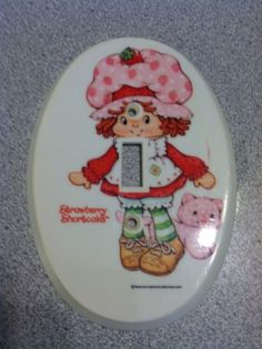 Vintage Strawberry Shortcake Single Light Switch Plate Cover 1982