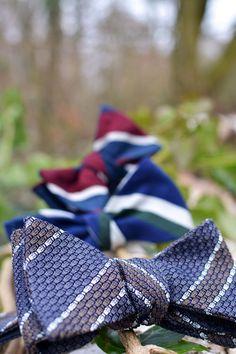 Self tie bow ties from Poszetka. Grenadine and shantung! #Poszetka