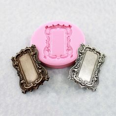 Ornate Frame Setting Mold Mould Flexible Silicone Resin Polymer Clay Chocolate Fondant (320) via Etsy