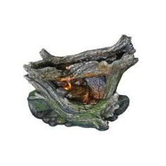 Bond Manufacturing - Y94103 - Vienna - 14 Inch Garden Fountain with Weathered Rock and Wood Look * Pinterest Friends Only: Save 10% on everything on PatioProductsUSA.com with #coupon code PIN10 *