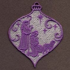 FSL Nativity Ornaments 5 - 4x4 | What's New | Machine Embroidery Designs | SWAKembroidery.com Ace Points Embroidery